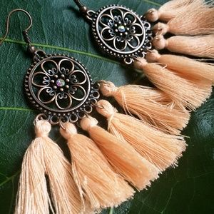 Jewelry - 🆕️Festival Tassel Bohemian Sunset Gem Earrings